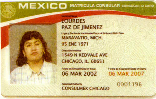 Matricula consular card for Who is a consular